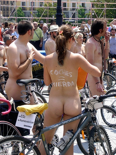 World Naked Bike Ride Cyclo nudista Madrid 2007