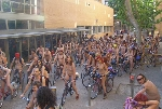 World Naked Bike Ride Cyclonue ciclonudista Madrid 2008